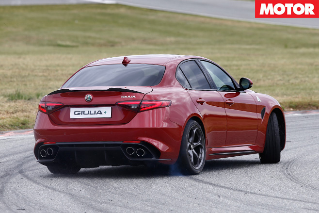2016 Alfa Romeo Giulia rear driving