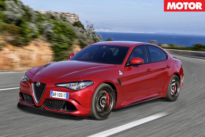 2016 Alfa Romeo Giulia driving front