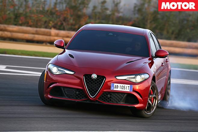 2016 Alfa Romeo Giulia drifting front view