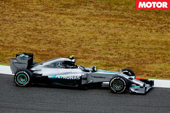 Mercedes formula 1 car