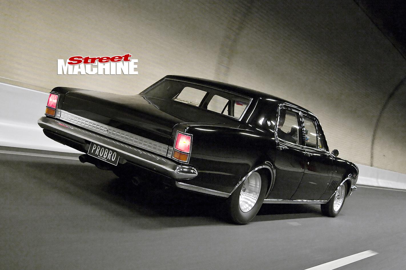 Holden -HG-Brougham -motion -rear