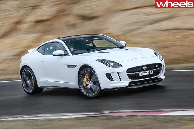 Jaguar -F-Type -driving -front -side