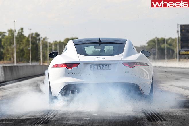 Jaguar -F-Type -driving -front