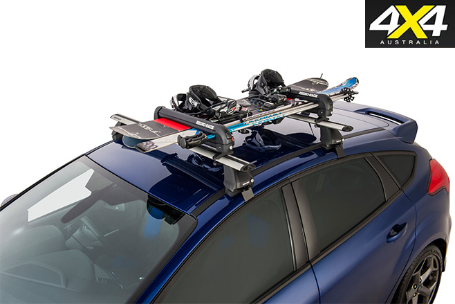Rhino rack ski and snowboard carrier