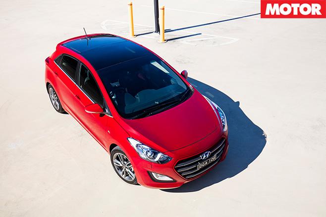 Hyundai i30 SR top view