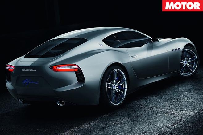 Maserati alfieri concept rear