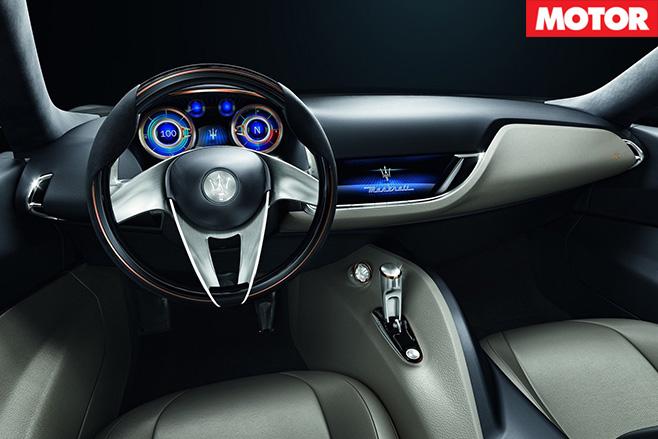 Maserati alfieri concept interior