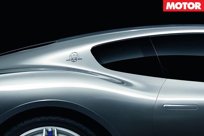 Maserati alfieri concept badge