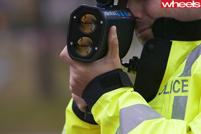 Police -with -speed -camera