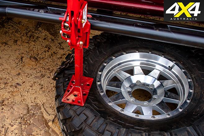 Jack -against -tyre