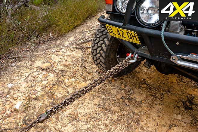 Chain for winching