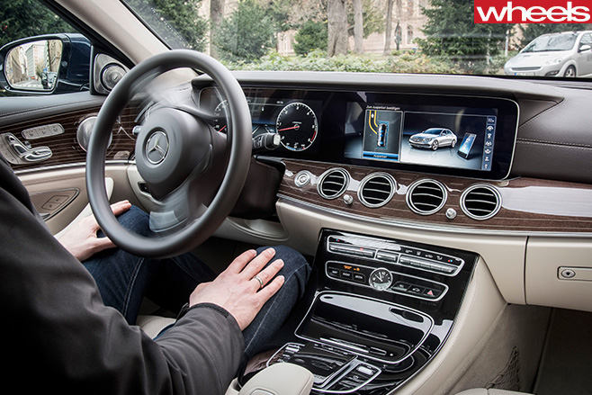 Man -driving -Mercedes -Benz -E-Class -automated -system