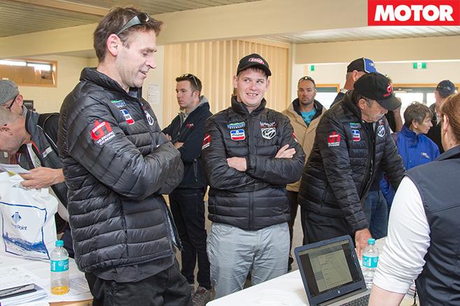 Targa race driver