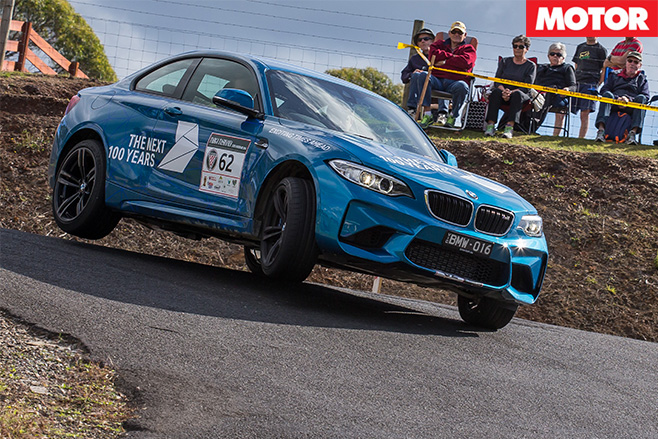 BMW M2 ndriving hard around corners