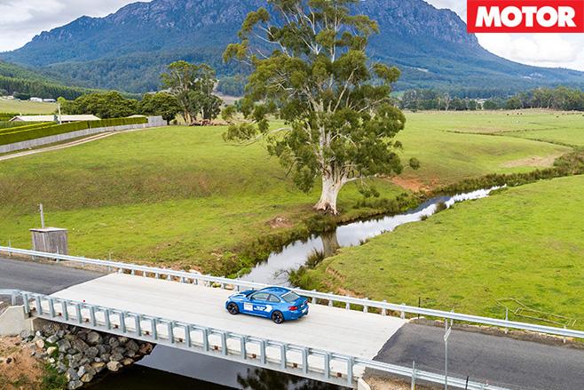 BMW M2 driving through tasmania