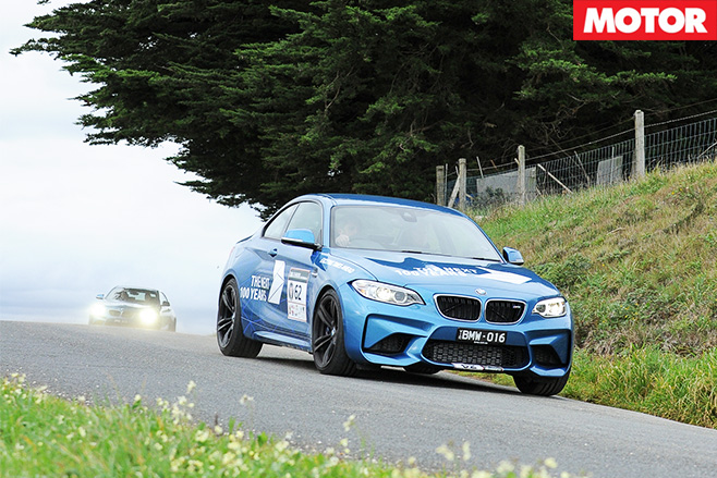 BMW M2 driving