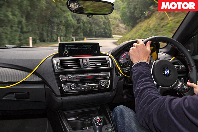 BMW M2 driving interior