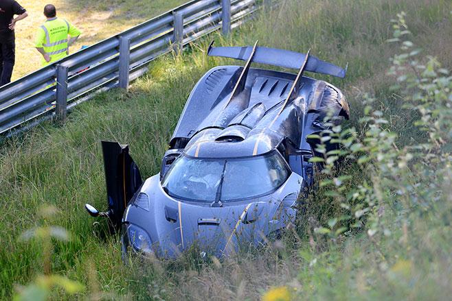 Koenigsegg One Supercar Crashes At The Nurburgring Wheels