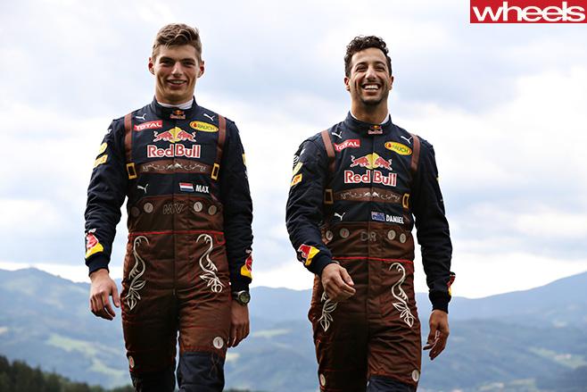 Max -Verstappen -and -Daniel -Ricciardo -in -lederhosen