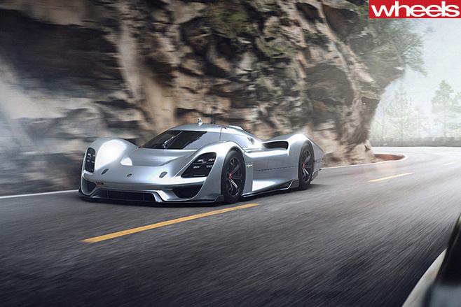 Porsche Vision GT Concept road
