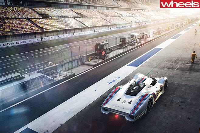 Porsche Vision GT Concept track
