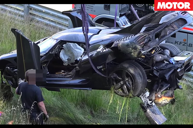Koenigsegg One crashed at the Nurburgring