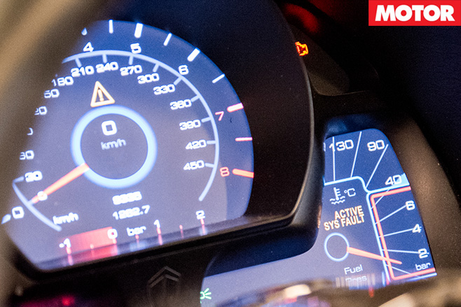 Koenigsegg One 1 gauges