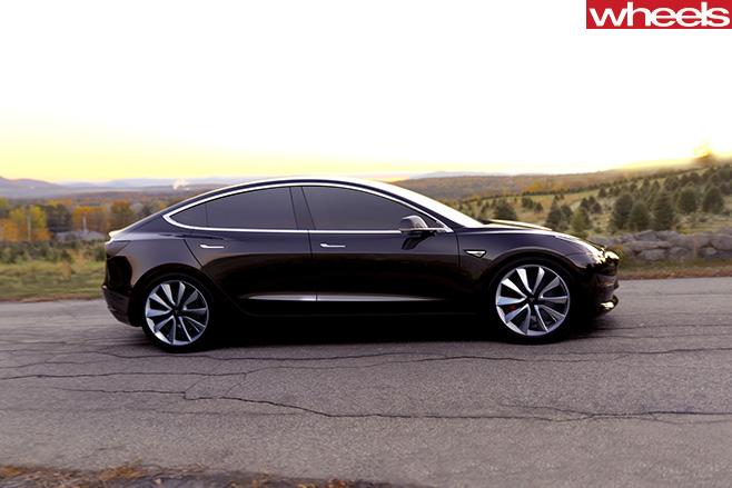 Tesla -Model -3-side