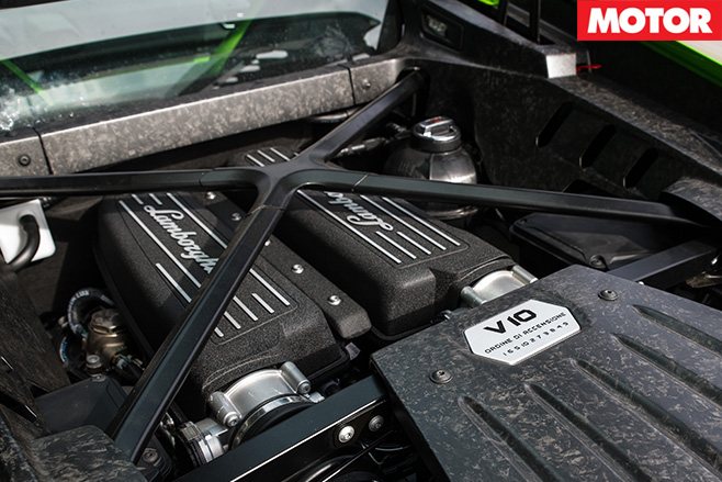 2016 Lamborghini Huracan LP580-2 engine