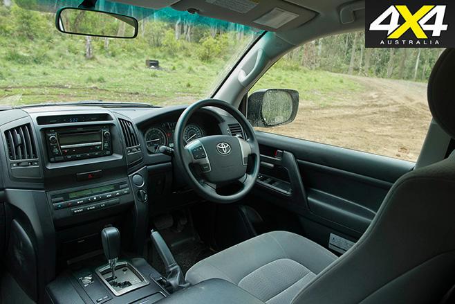 Toyota land cruiser 200-series interior