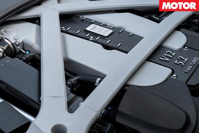 Aston Martin DB11 prototype engine