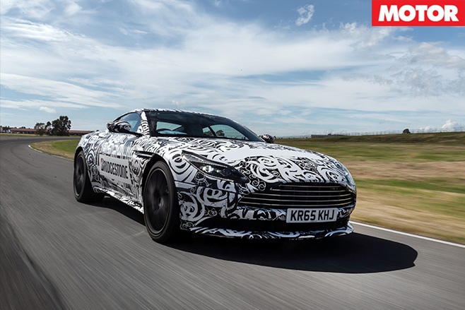 Aston Martin DB11 prototype front driving