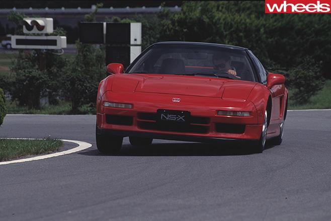 Honda -NSX-driving -front