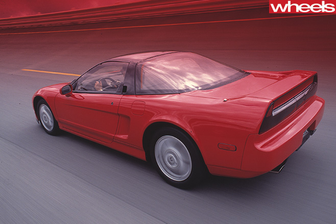 Honda -NSX-rear -side -driving
