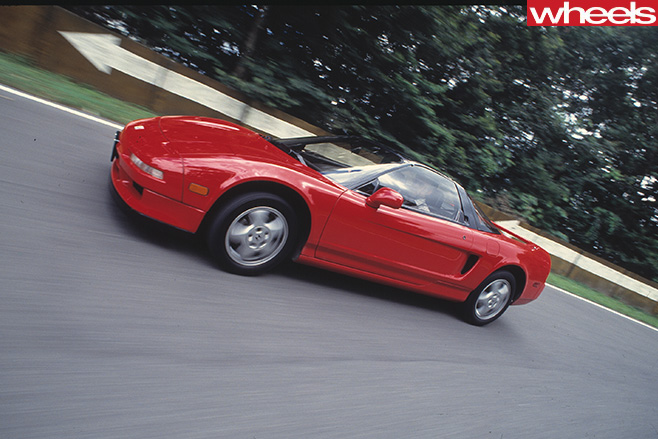 Honda -NSX-driving -side -on