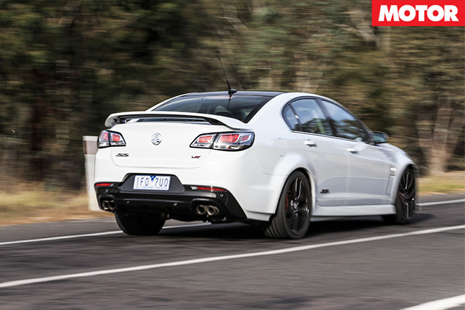 Holden commodore SS-V redline driving