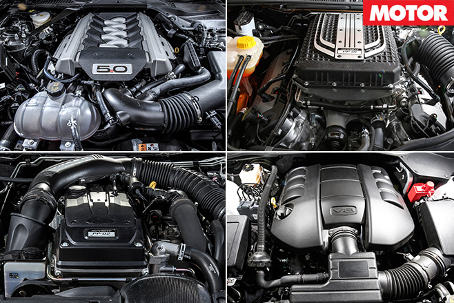Modern muscle car engines