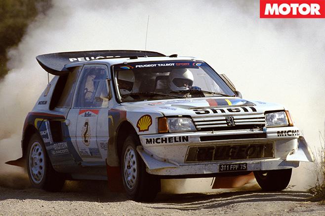 Peugeot 205 T16 2 driving