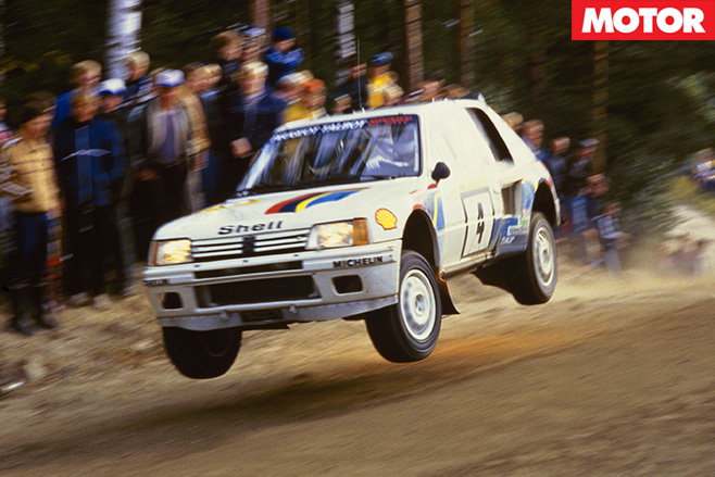 Peugeot 205 T16 jump