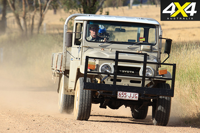 FJ45 driving front