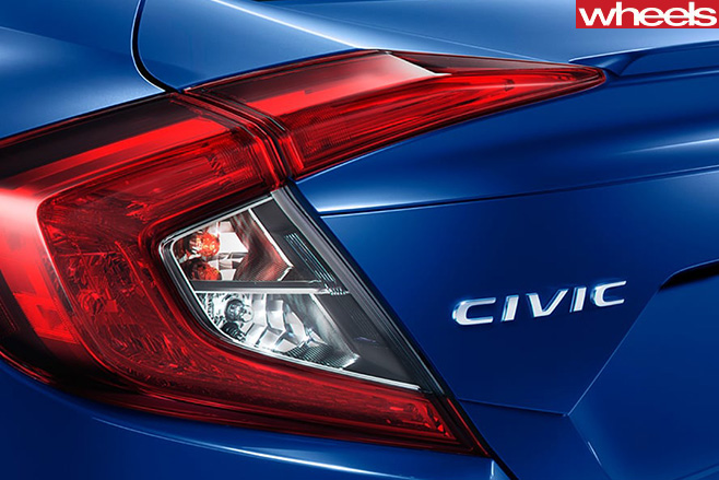 Honda Civic RS rear taillight