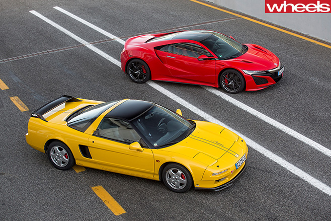 Red -Honda -NSX-with -yellow -90s -NSX