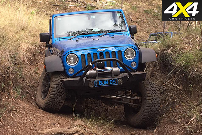 Jeep JK Wrangler Rubicon front driving