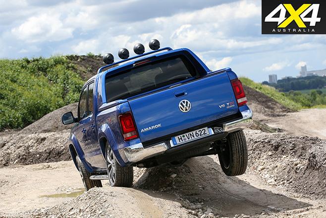 Volkswagen Amarok Aventura driving rear