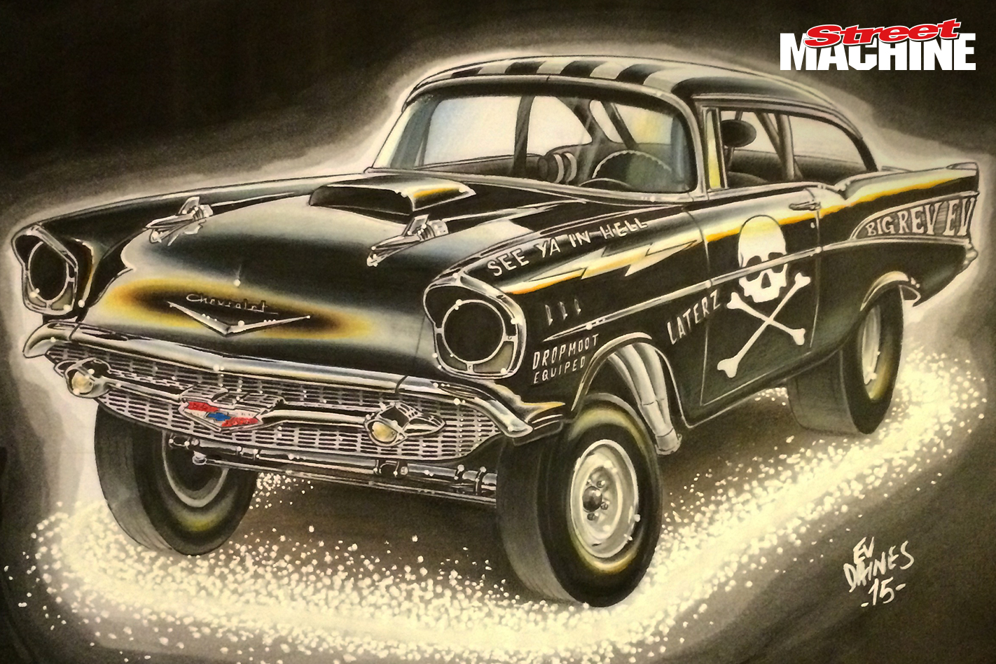 57 Chev Gasser Artwork