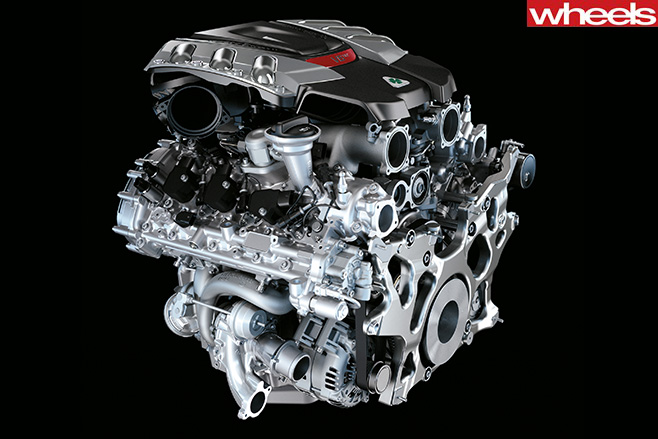 Alfa romeo 3.9 litre turbo v6 engine