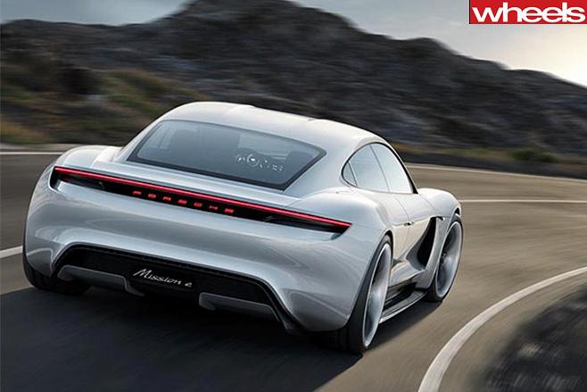 Porsche mission e rear driving