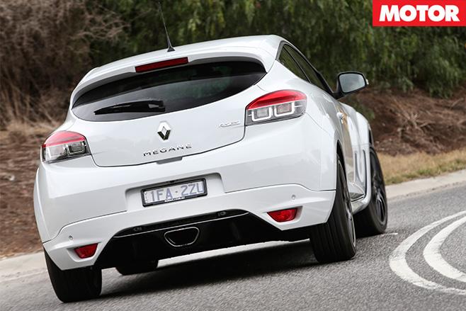Megane -rs 275-driving -rear