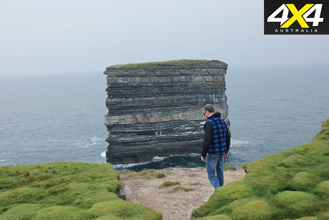 Irelands largest sea stack