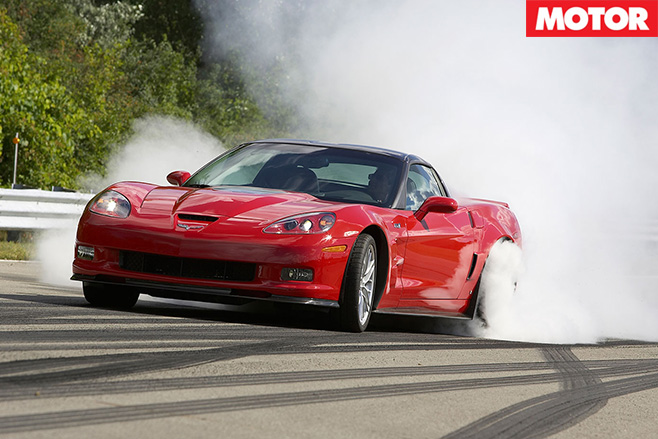 Corvette ZR1 burnout